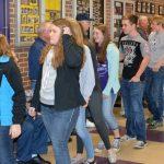 Students showing community spirit