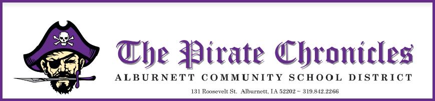 The Pirate Chronicles - Alburnett Newsletter Graphic