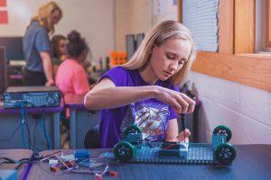 Hayley building robot