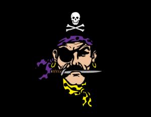 Alburnett pirate head logo